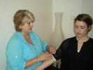 Reiki Handpostion am Arm
